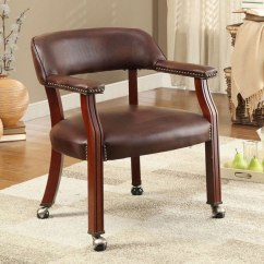 Brown Office Guest Chairs Lazy Boy Chair W Caster Wheels By Coaster Furniture Furniturepick