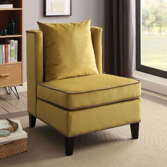 accent chair yellow chairs for bedrooms ozella by acme furniture furniturepick