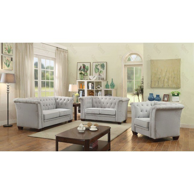 suede living room furniture images of rooms with white leather sofas g321 tufted set gray