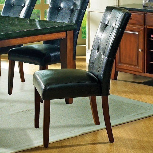 black parsons chair executive car granite bello set of 2 steve silver