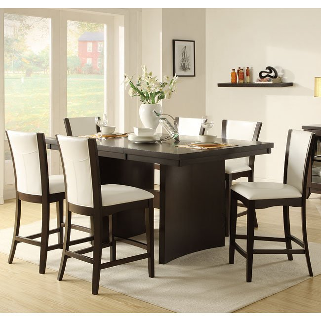 Daisy Counter Height Dining Room Set With White Chairs By