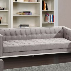 Andre Sofa Leather And Fabric Combination Sofas Armen Living Furniturepick