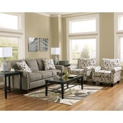 Living Room Sets With Accent Chairs Log Burner Gusti Dusk Sofa Set W By Signature Design Ashley Furniturepick