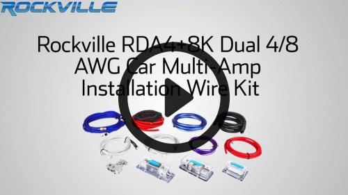 small resolution of rockville rda4 8k dual 4 8 awg multi amp true gauge wire kit 2 farad 10 gauge multi amp wiring kit