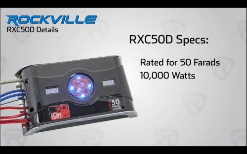 small resolution of rockville rxc50d 50 farad 24v surge hybrid ion capacitor voltage amerage meter audio savings