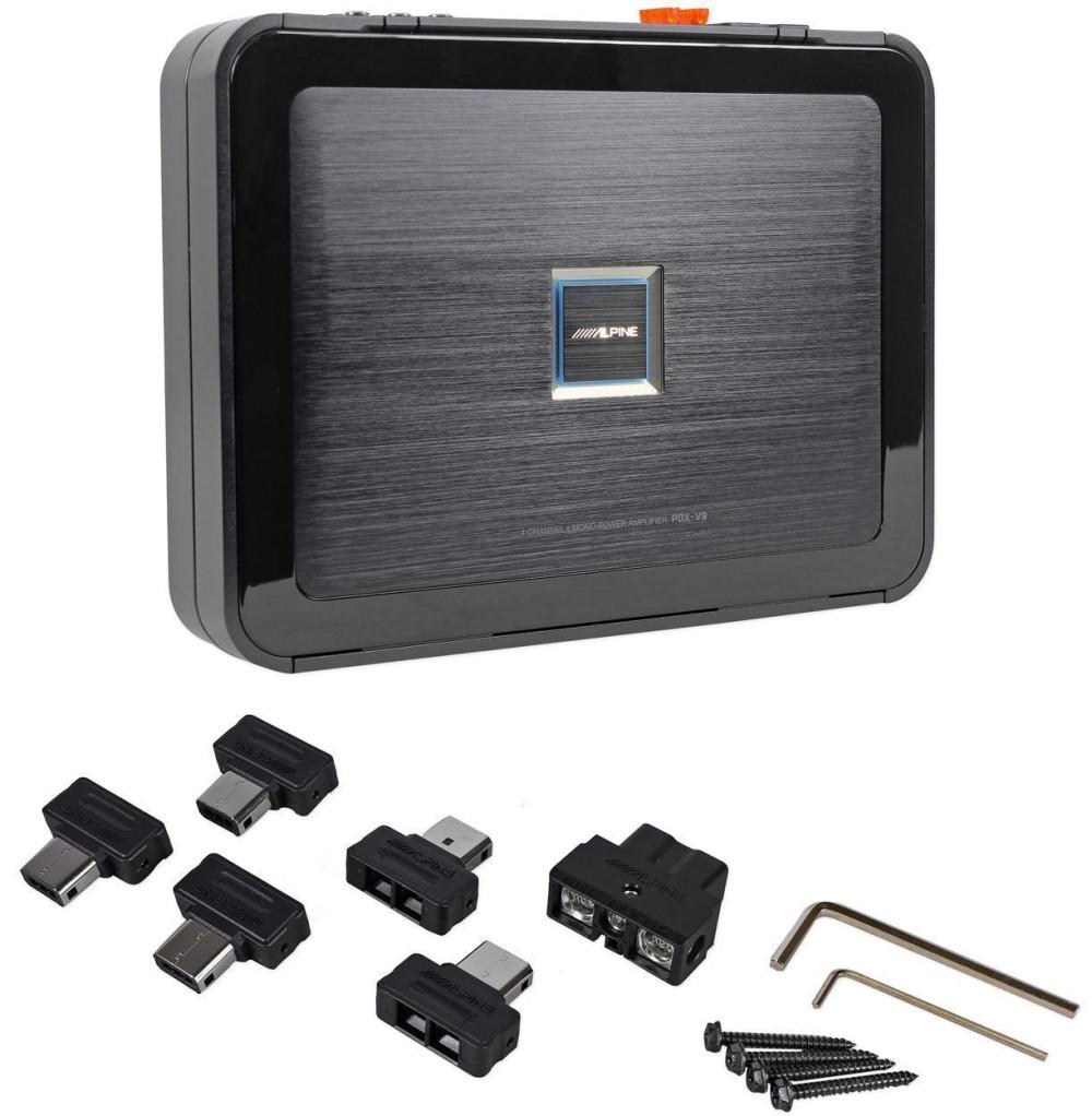 hight resolution of alpine pdx v9 900w 5 ch car audio class d amplifier 100wx4 500wx1 rux knob