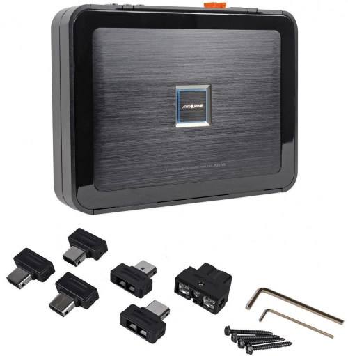 small resolution of alpine pdx v9 900w 5 ch car audio class d amplifier 100wx4 500wx1 rux knob