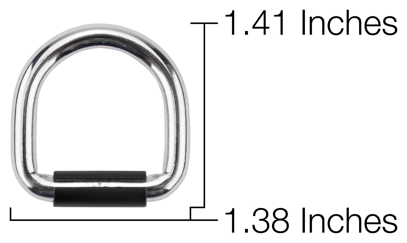 Buy 1 Inch Heavy Welded D Ring With Plastic Clasp Closeout