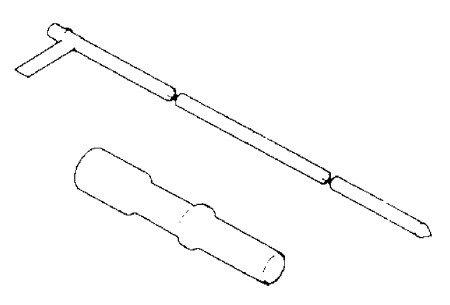 Fuel Flapper Door Holder and Siphon Hose J-42960