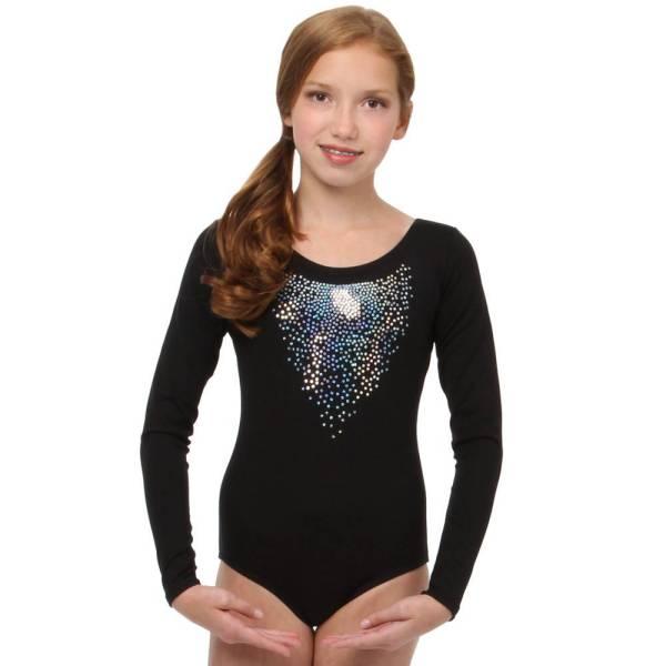 Alexandra Youth Sequin Long Sleeve Leotard Ac1020c