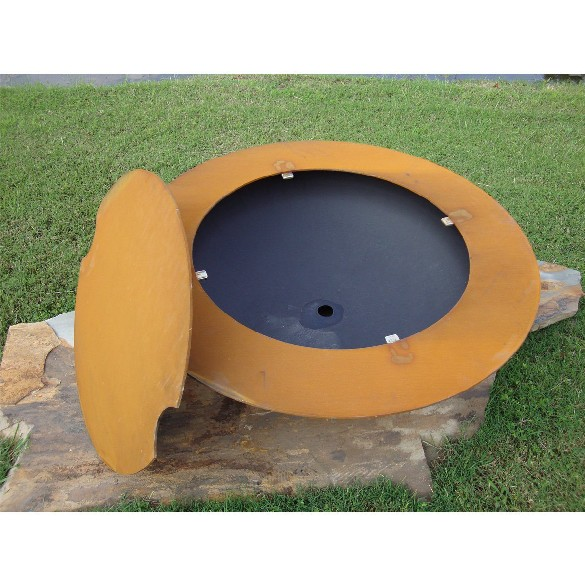 Fire Pit Art Magnum Wood Burning Fire Pit With Lid