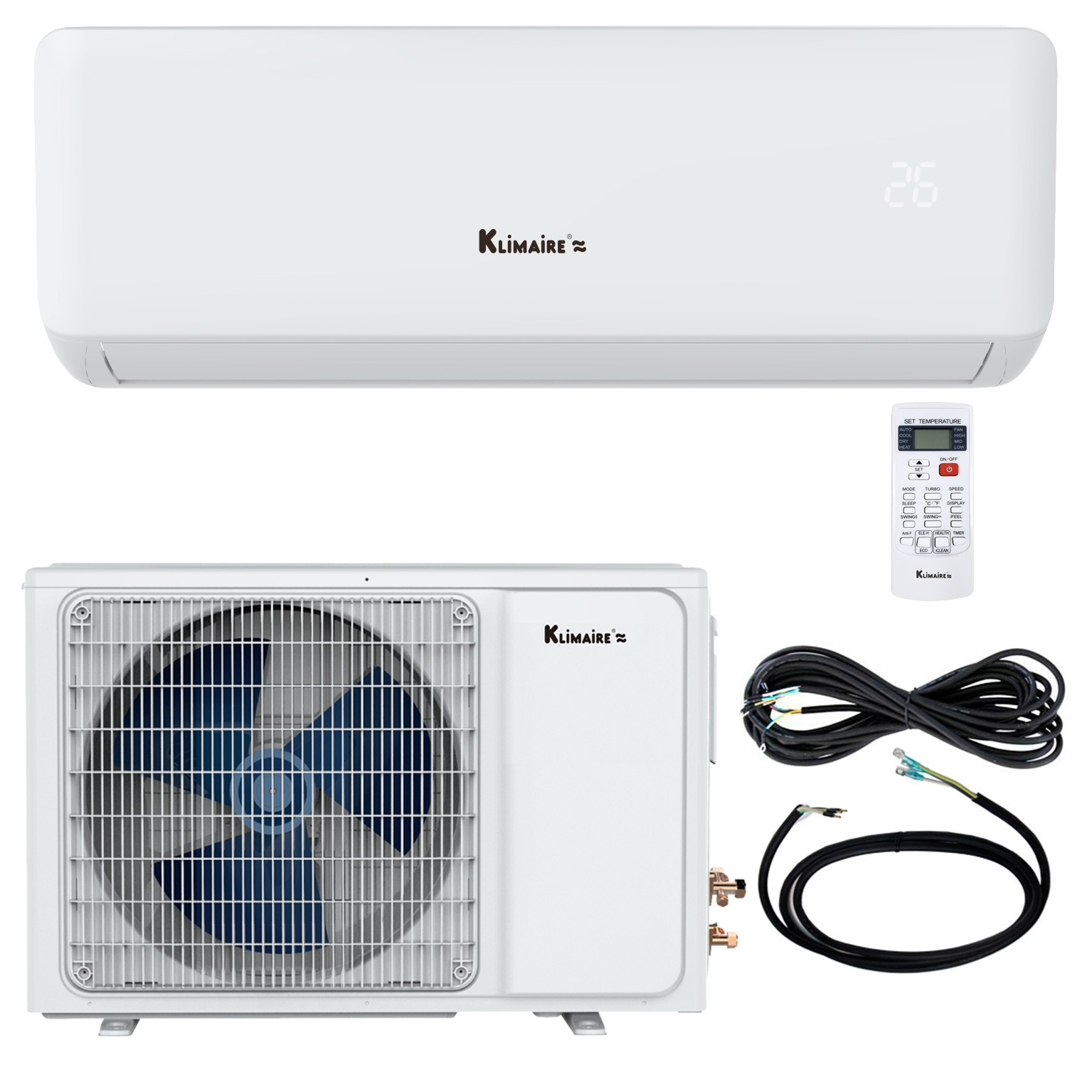 hight resolution of 18 000 btu klimaire 17 seer ductless mini split inverter air conditioner heat pump and healthy