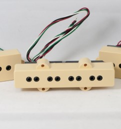 dimarzio dp126 cr creme 4 string p j size model j split coil set [ 3586 x 2017 Pixel ]