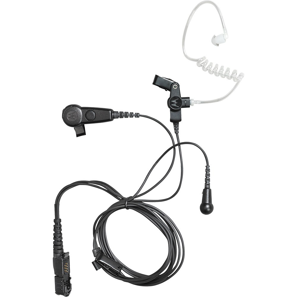 Motorola PMLN6754A 3-wire Black Surveillance Earpiece