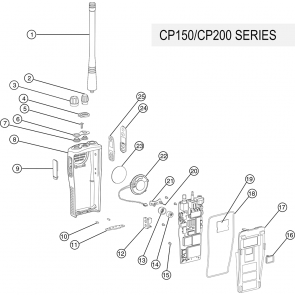 Motorola CP200 Portable Two-Way Radio Batteries, Parts and