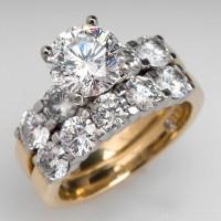 """The Leo"" 2 Carat Diamond Engagement Ring Bridal Set 18K ..."