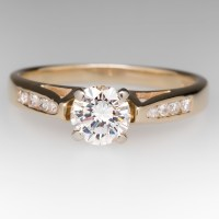 1/2 Carat Diamond Engagement Ring in 14K Yellow Gold