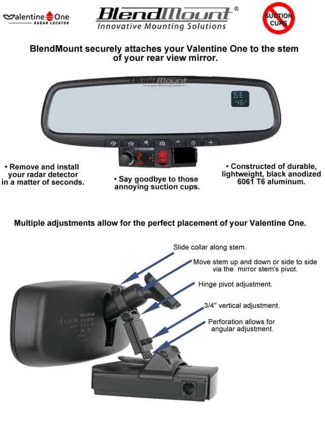 C5 Corvette Radar Detector BlendMount