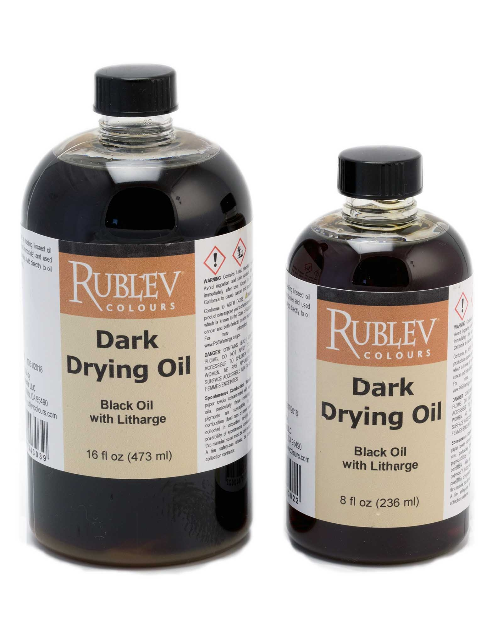 Drying Oil Paint : drying, paint, Natural, Pigments, Drying, Black, Rublev, Colours, (Black