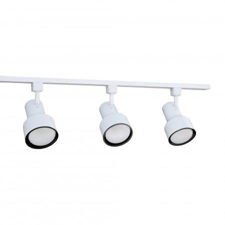 nicor 4 foot white 3 light 75w linear track lighting kit complete 10997wh