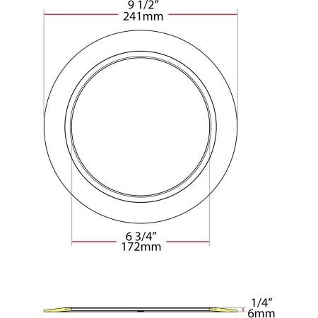 RAB DL Goof Ring Extender Kits 6 Inch-8 Inch Plastic (DL6