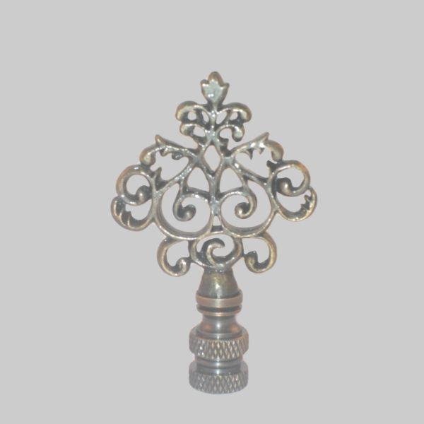 Antique Decorative Brass Finial Tapped 1/4-27 (KL69839)