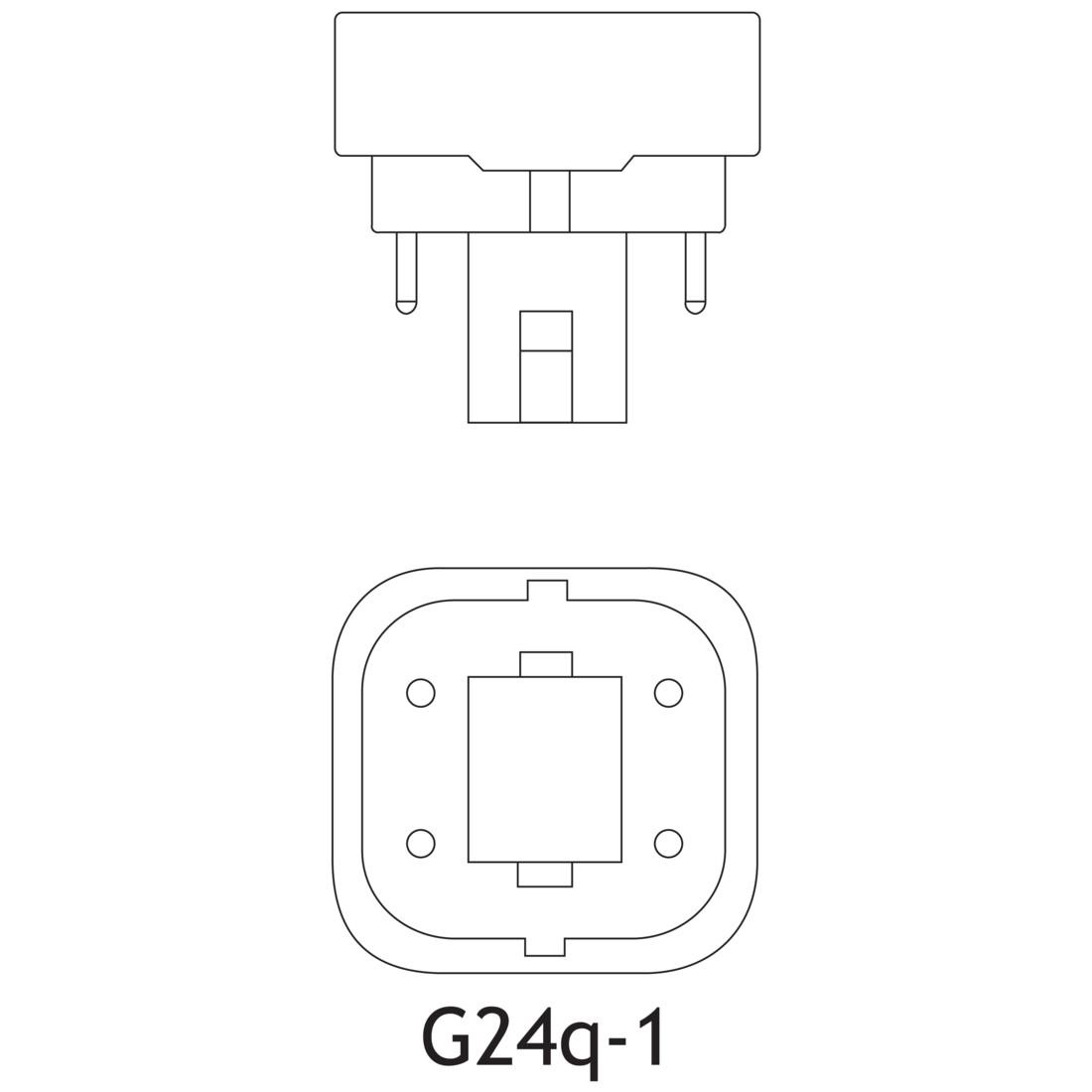 Ge F13dbx 827 Eco4p 13 Watt T4 Quad Tube Cfl K 82 Cri 4
