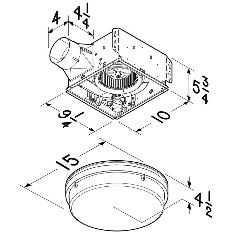 Broan NuTone 110 CFM Decorative Bathroom Exhaust Fan With