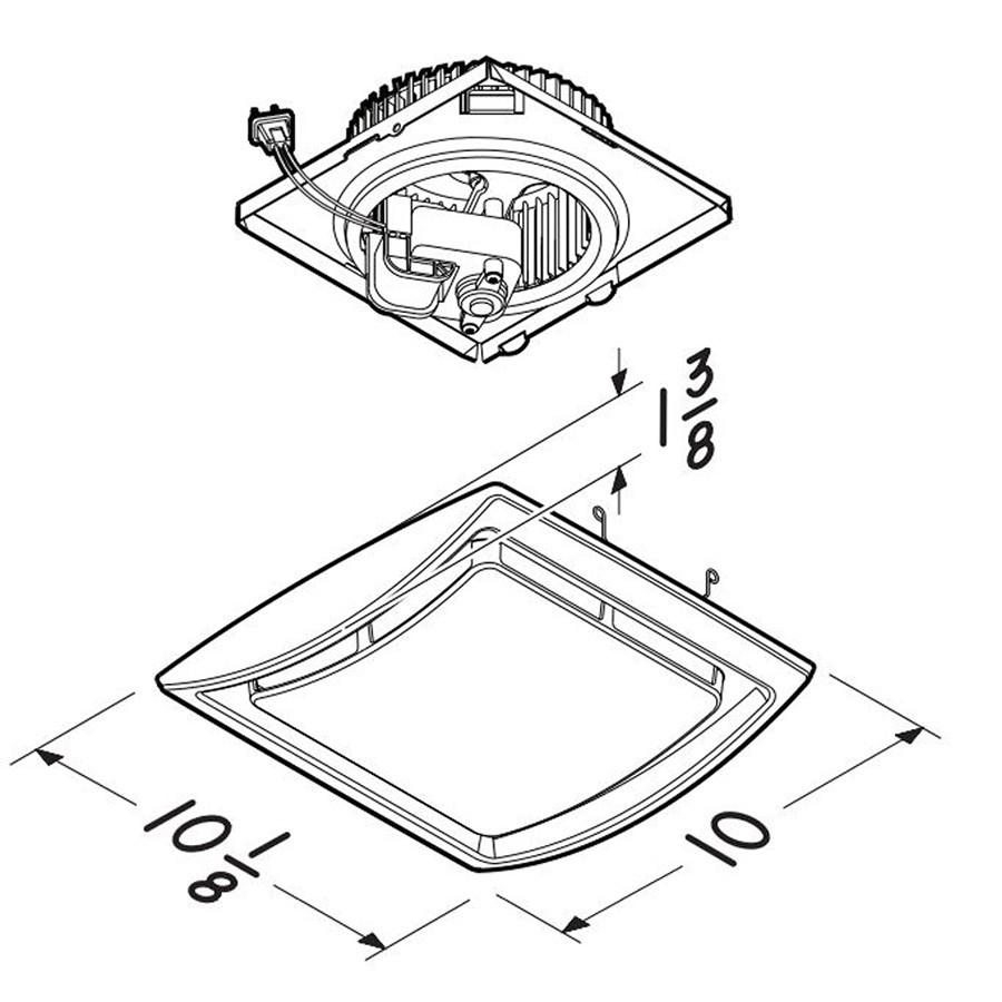 Broan NuTone Bathroom Exhaust Fan Upgrade Kit 60 CFM