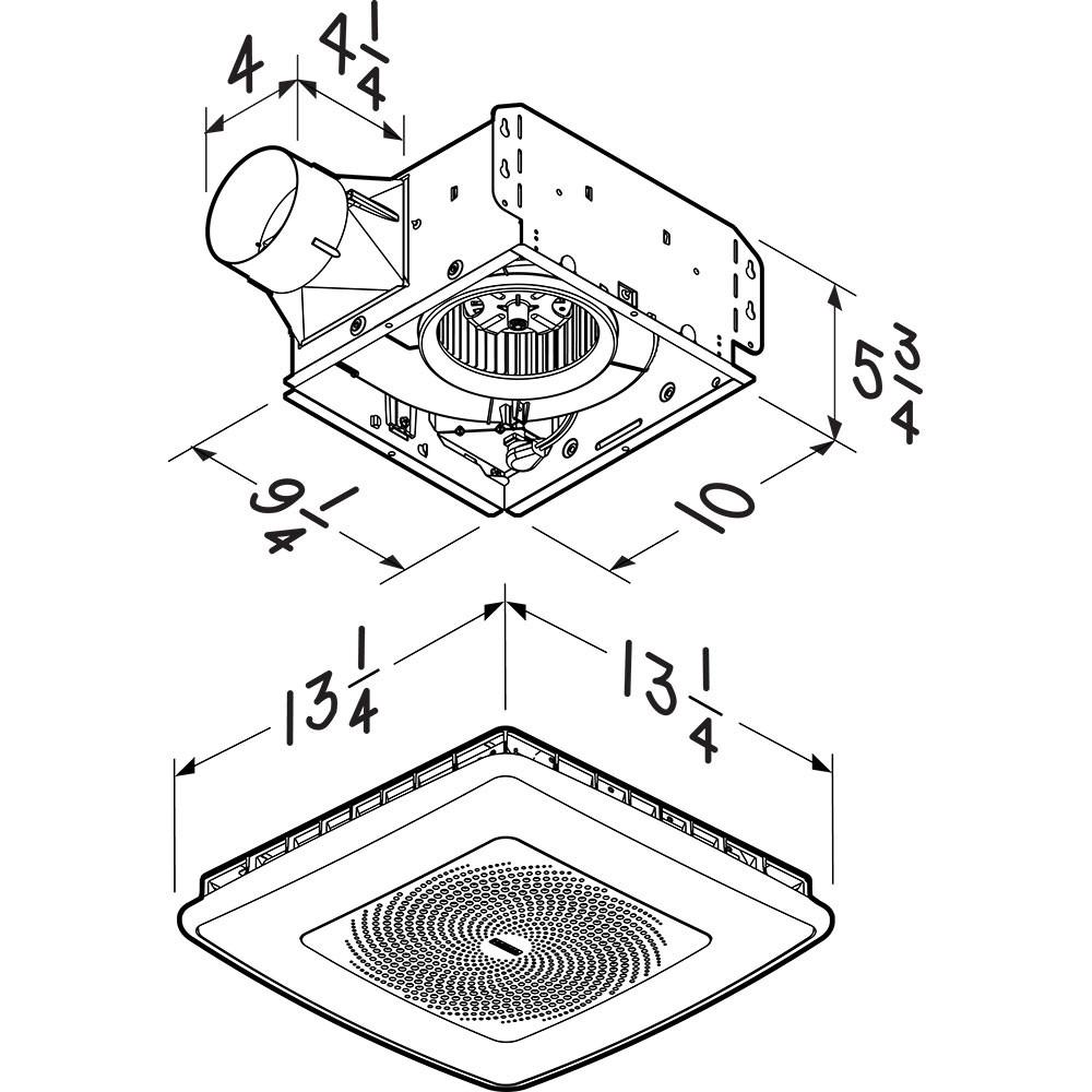 Broan NuTone Chromacomfort Ventilation Fan With Multicolor