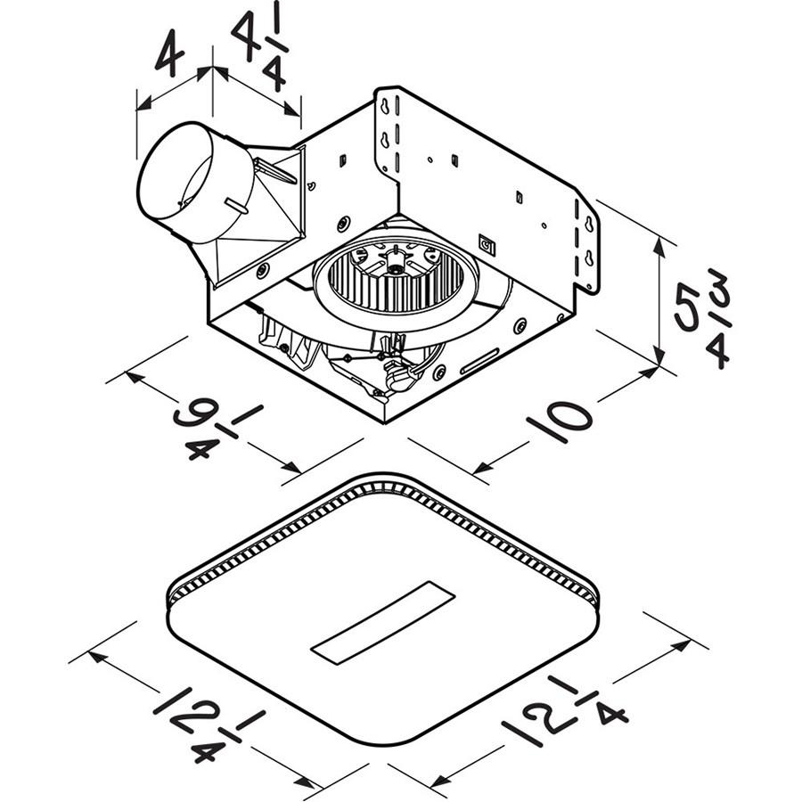 Broan NuTone Flex Series 110 CFM Ceiling Bathroom Exhaust