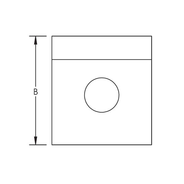 Caddy L110000EG 1-1 Hole Angle Bracket, Steel, EG, 2 Inch X