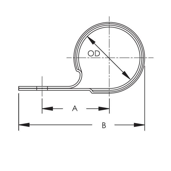 Caddy 1070075EG 107 Wraparound Strap For Cpvc Pipe, 3/4 Inch