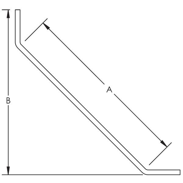 Caddy L441200EG 2 Hole 45 Degree Angle Brace, EG, 12 Inch X