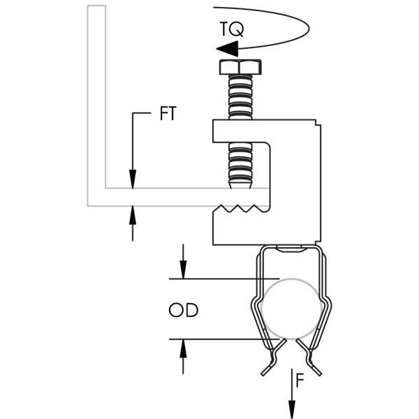 Caddy BC8P Bc-P Conduit To Beam Clamp, 1/2 Inch EMT, 1/2 Inc
