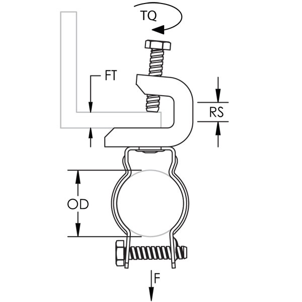 Caddy BC200CD5B Bc200-Cd Conduit To Beam Clamp, 2 Inch EMT,