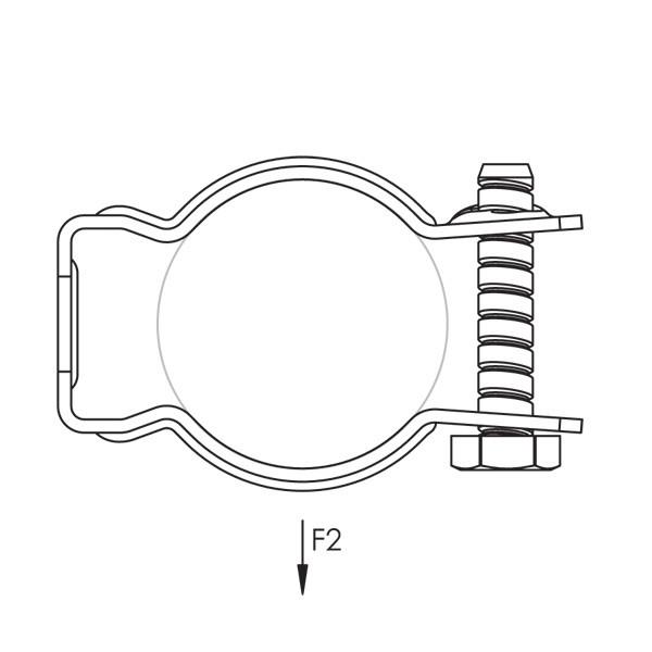 Caddy CD5B Bolt Close Conduit/Pipe Clamp, Steel, 2 Inch EMT,