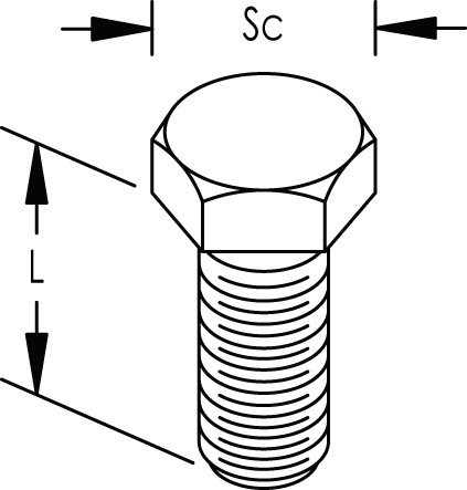 Caddy HSCR3710EG Hex Head Bolt, Steel, EG, 3/8 Inch Screw, 1