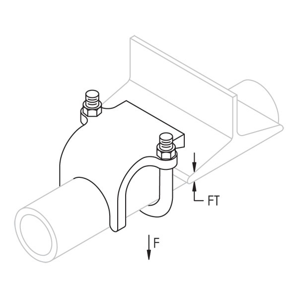Caddy RA0125HD RA Right Angle Pipe And Conduit Clamp, 1-1/4