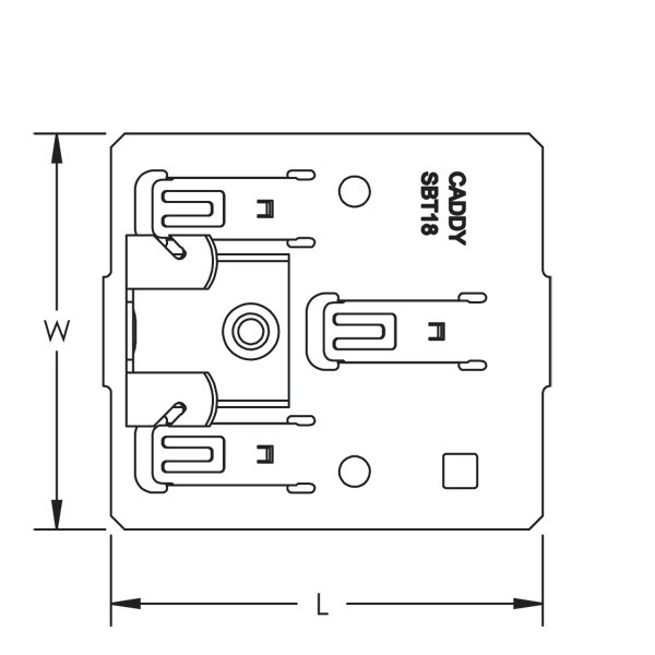Caddy SBT1858 SBT-H Multiple Conduit Mounting Plate With Fla