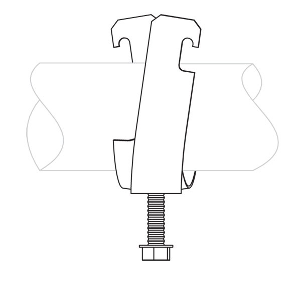 Caddy SCH20B Schedule 2 Single Piece Strut Clamp For Cable/C