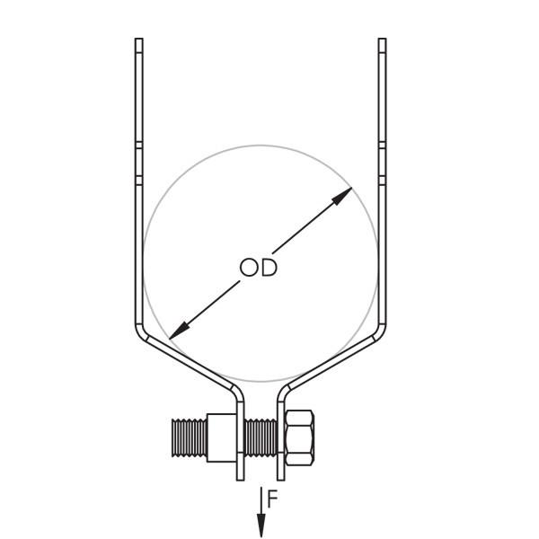 Caddy SK24ALA SK Single Piece Strut Clamp For Conduit, Alumi