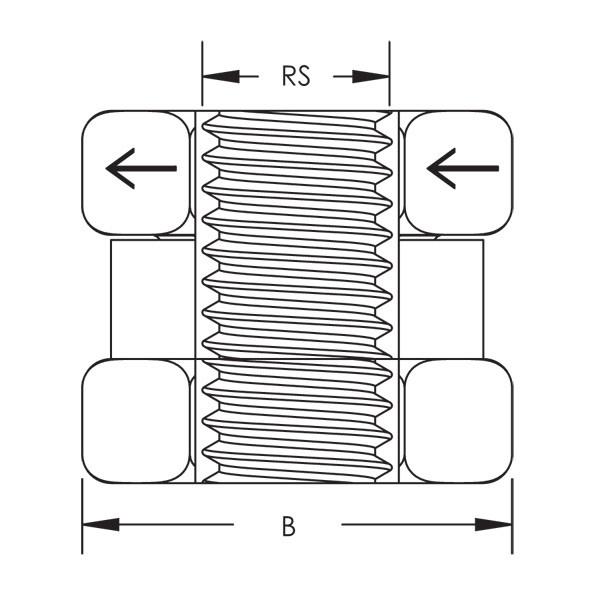 Caddy SN37 Sn Series Nut, 3/8 Inch Rod (Sn37)