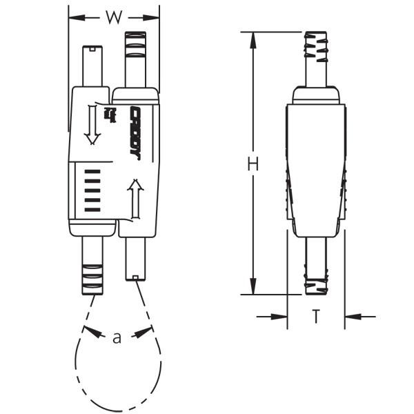 Caddy SLK2L3AB Speed Link SLK With Angle Bracket, 2 mm Wire,