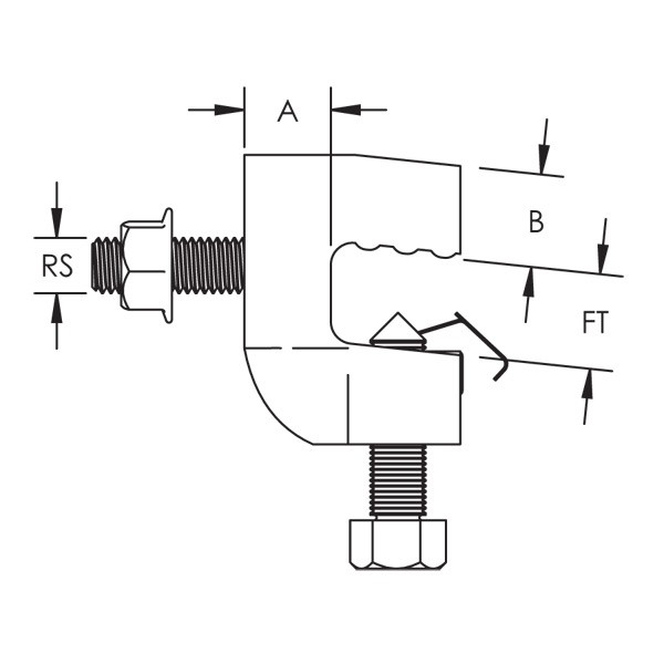 Caddy CSBS1 Steel Flange Adaptor, EG, 1/4 inch, 3/4 Inch Fla