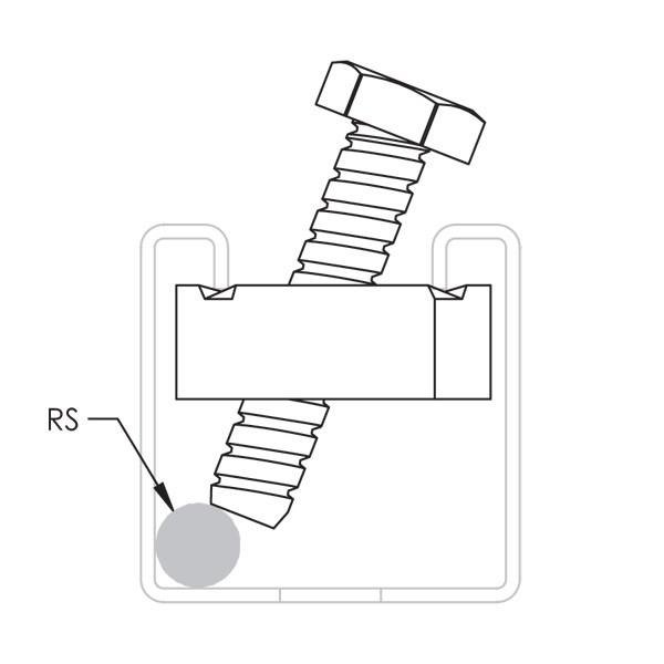 Caddy CSBRS37EG Strut Rod Stiffener, A Type, 3/8 Inch, 1/2 I