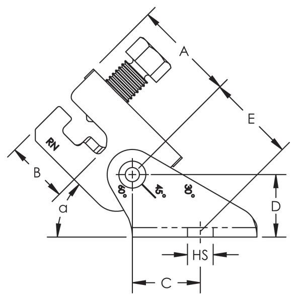 Caddy CSBU1 Universal Structural Bracket, EG, 9/16 Inch Hole
