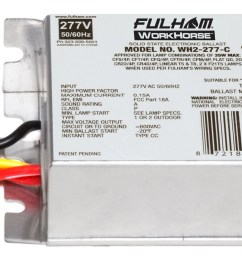fulham wh2 277 c workhorse 2 ballast 35w max lamps fluorescent ballast wiring diagram ballast diagram wiring workhorse wh2 277c [ 2230 x 1116 Pixel ]
