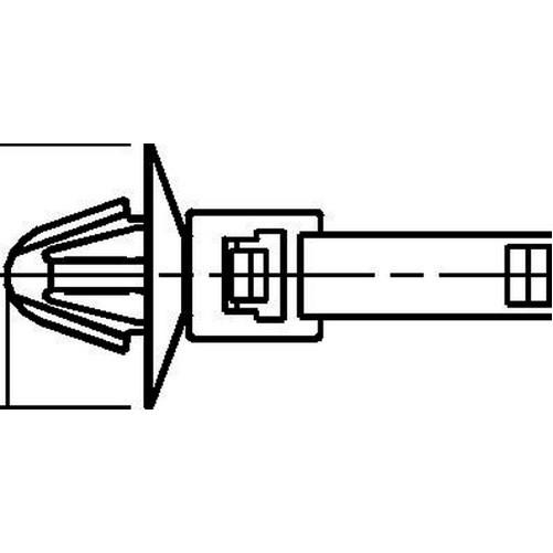 HellermannTyton 1-Piece Cable Tie/Arrowhead Mount 8.9 Inch
