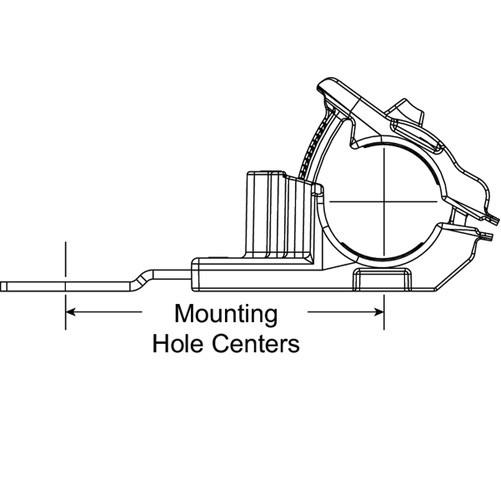 HellermannTyton Ratchet P-Clamp .24 Inch (151-01916)